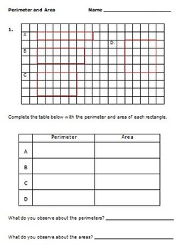 Common Core Math 3rd Grade Measurement (3.MD.8) Activities