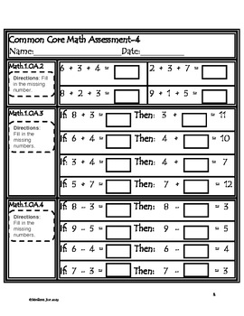 Common Core Math Assessments--Beginning 2nd Grade by