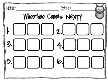 Common Core Math Center Game: Whoo-Hoo Comes Next by Tara