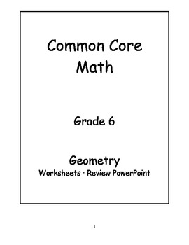 6th Grade Common Core Math Geometry Activities by Jeni