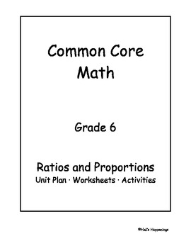 6th Grade Common Core Math Ratios and Proportional