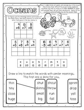 2nd Grade Common Core: Math & Informational Text Practice