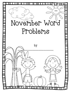 Second Grade Common Core Math-2.OA.1-November Word