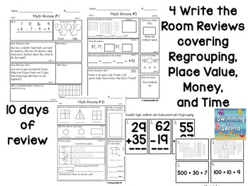Common Core Math Review Centers for 2nd grade by Swimming