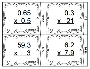 Common Core Math Task Cards (5th Grade): Decimal