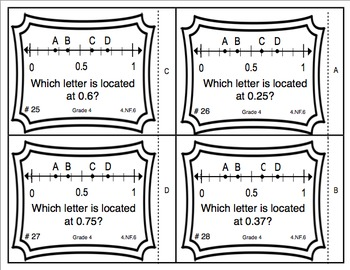 Common Core Math Task Cards Converting Fractions (Tenths
