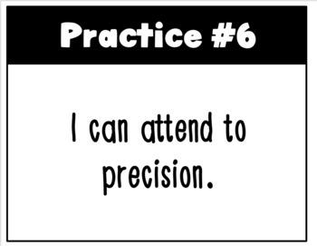 Common Core Mathematical Practice Standards Classroom