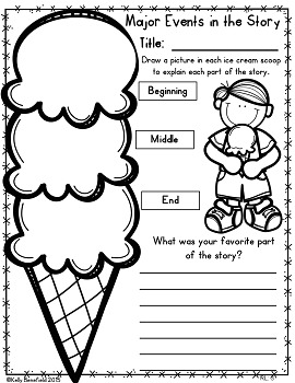 Graphic Organizers for Reading Literature Grades 1-2 by