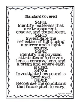 Common Core: Science Standard: Light and Sound Common