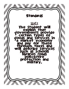 Common Core: Social Studies: Government Services by 4th