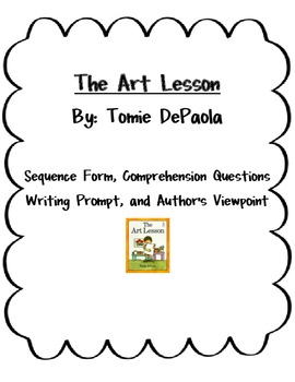 The Art Lesson by Tomie dePaola ~Comprehension & More! by