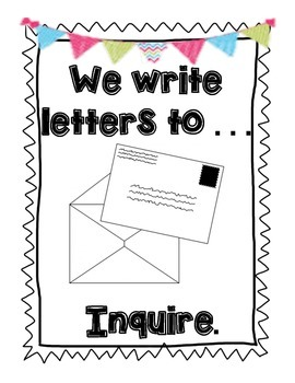 Common Core Writing {Letter Writing Unit} by First Grade