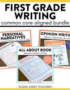 also first grade writing narratives opinion  informative  bundle rh teacherspayteachers