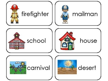 Common Nouns Picture Word Flashcards By Teach At Daycare