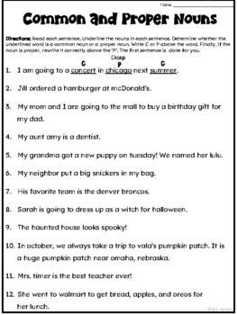Common and Proper Nouns Halloween Craftivity by Deb Hanson