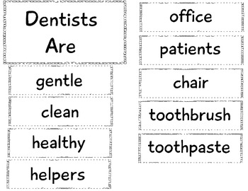 Community Helper Anchor Chart: Dentist by The Crazy Pre-K