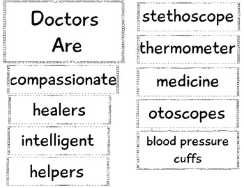 Community Helper Anchor Chart: Doctor by The Crazy Pre-K