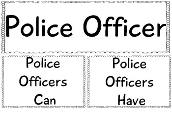 Community Helper Anchor Chart: Police Officer by The Crazy