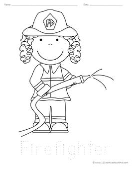 Community Helper Coloring Sheets (Preschool, Kindergarten