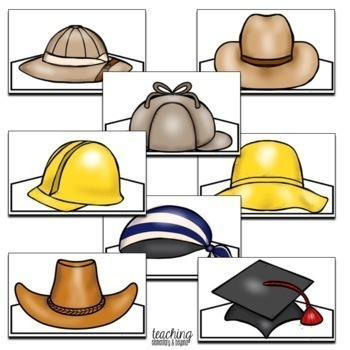 Community Helper Hats for Dramatic Play by Teaching