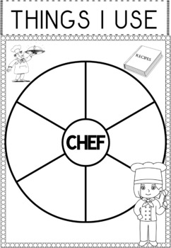 Community Helper Graphic Organizers / Worksheets: Chef by