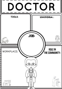 Community Helper Graphic Organizers / Worksheets: Doctor