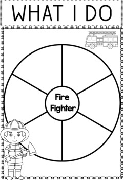 Community Helper Graphic Organizers / Worksheets: Fire