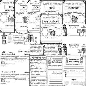 Communities and Community Helpers BUNDLE by First Grade