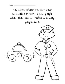 Community Helpers Coloring Pages by Taylor's Teaching