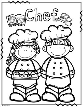 Community Helpers Coloring Pages by Preschoolers and