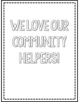 Community Helpers Coloring Pages by Countless Smart