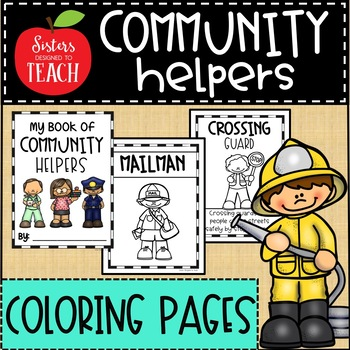 Community Helpers Coloring Pages Distance Learning Tpt