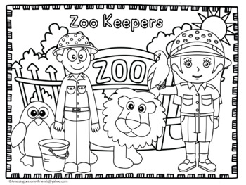 Community Helpers Coloring Sheets by