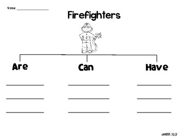 Community Helpers Graphic Organizers by Creative Classroom