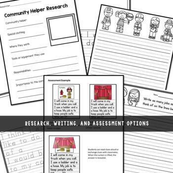 Community Helpers Posters|Writing|Assessment by Resource