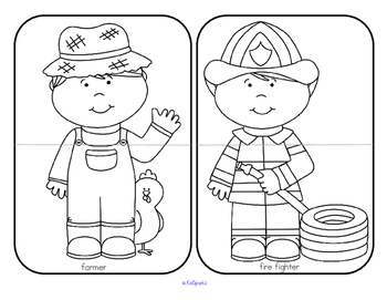 Community Helpers Puzzles Center for Preschool by