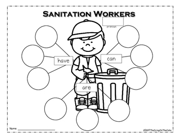 Community Helpers: Sanitation Workers Writing Mini Unit by