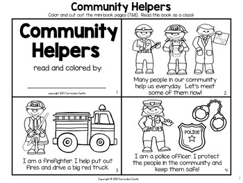 Community Helpers Thematic Unit: Activities and Printables