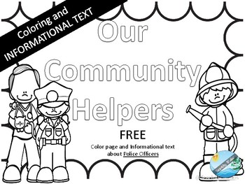 FREE Community helper- Police Officer Coloring pages and