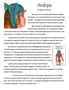 cendrillon venn diagram 2002 lincoln ls engine rhodopis cinderella story wiring and compare contrast chinese egyptian reading passages rh teacherspayteachers com original ancient egypt