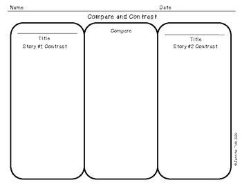 Compare Contrast Story Elements Differentiated Lines