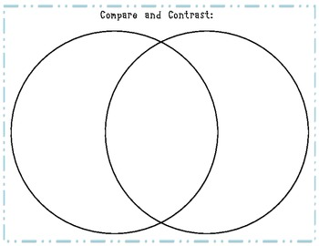 Compare and Contrast Charts Freebie by Live2Learn with