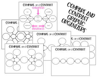 Compare and Contrast Graphic Organizers by Stephanie Smith