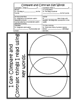 Compare and Contrast notes and foldable by Teaching in