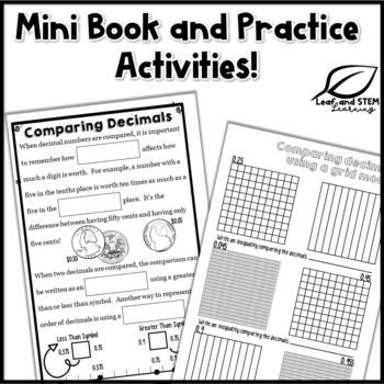 Comparing Decimals Interactive Notebook Set by Leaf and