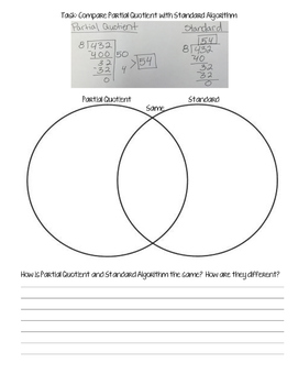 venn diagram math division three states of matter comparing standard algorithm for with partial quotient by mom
