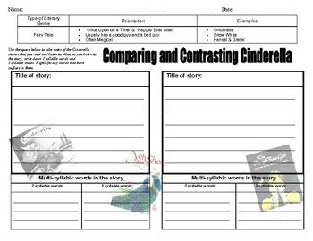 cendrillon venn diagram pioneer avic n2 wiring 2 comparing versions of a cinderella teaching resources teachers pay