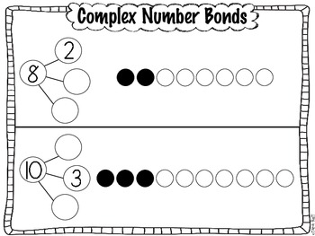 Complex Common Core Number Bond Practice Pages by Tara
