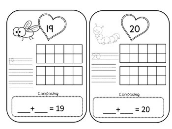 Composing Numbers 10-20 Bug Edition by Anchored in