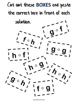 Composition of Functions: Cut and Paste Algebra Activity